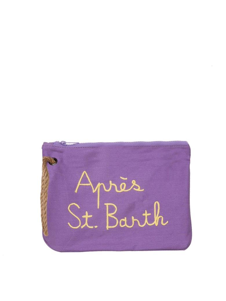 MC2 Saint Barth Lilac Pochette Embroidery Après St. Barth