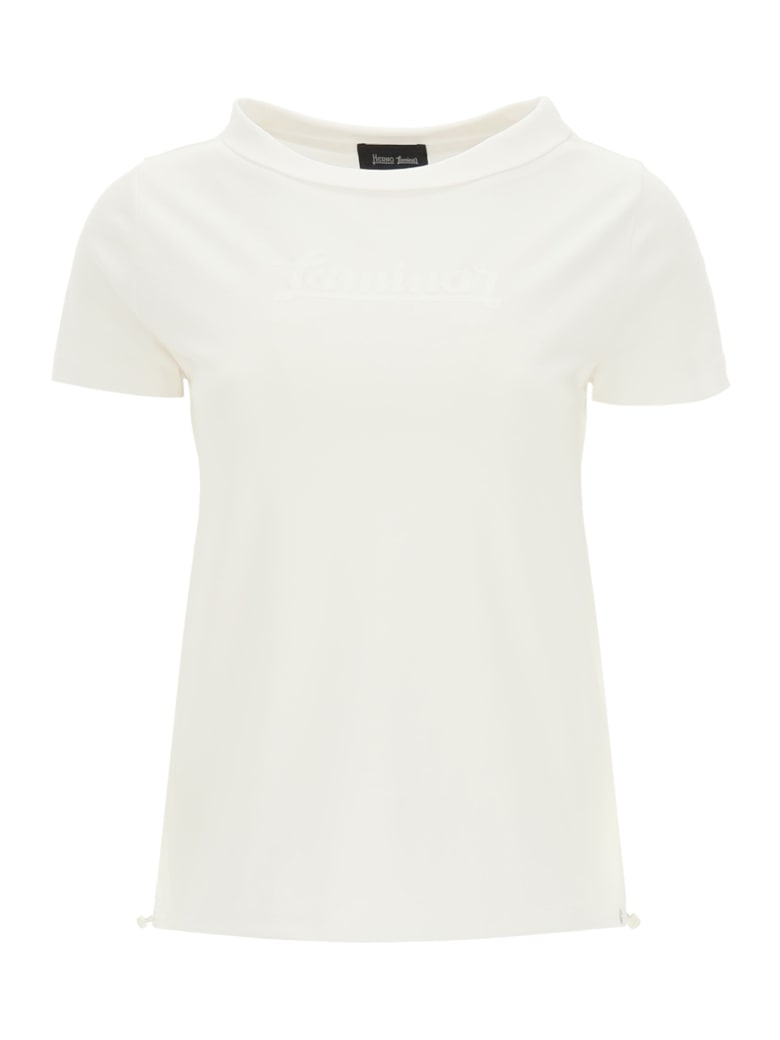 Herno Laminar Jersey And Gore-tex T-shirt With Logo - BIANCO (White)