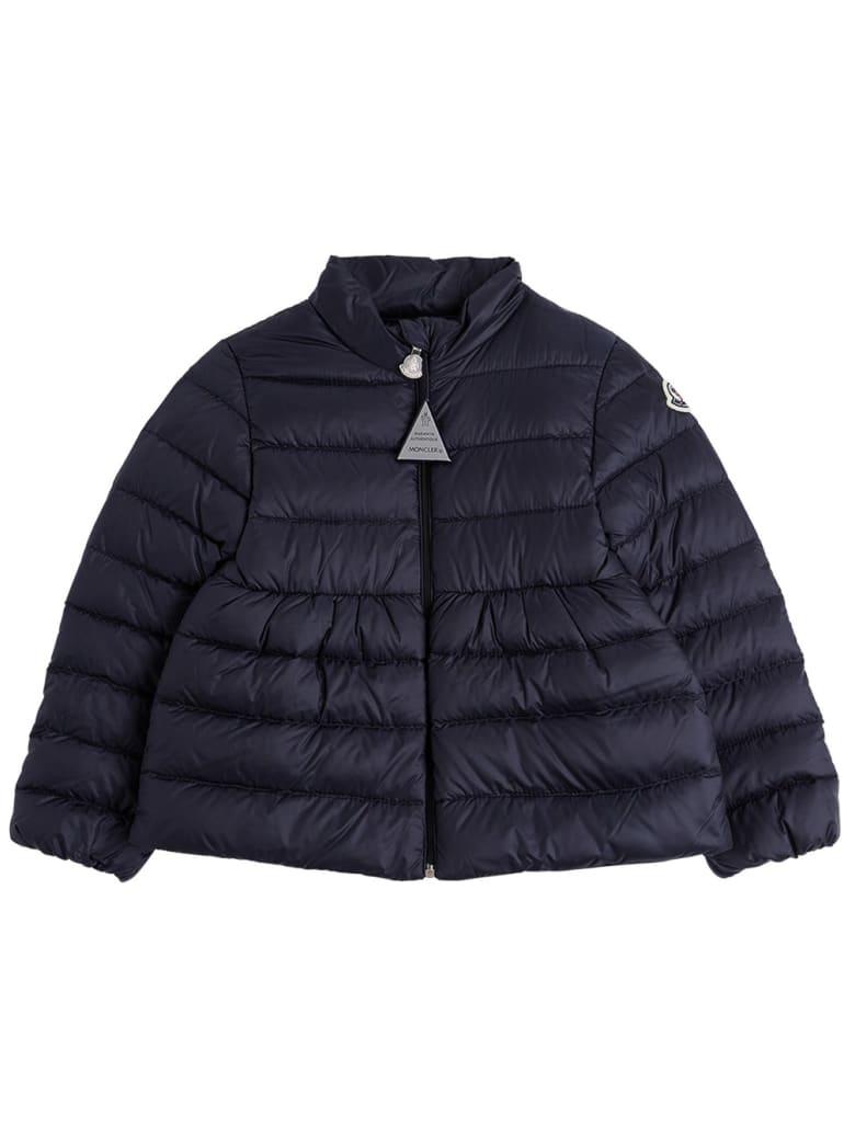 Moncler Joelle Down Jacket In Blue Nylon - Blu