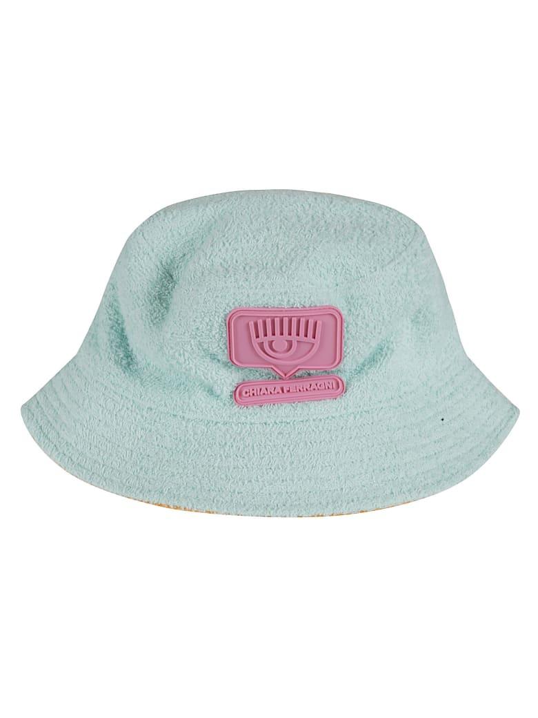 Chiara Ferragni Reversible Sponge Eyelike Hat - Turchese