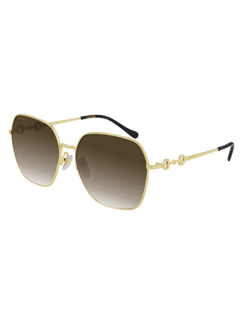 Gucci GG0882SA Sunglasses - Gold Gold Violet