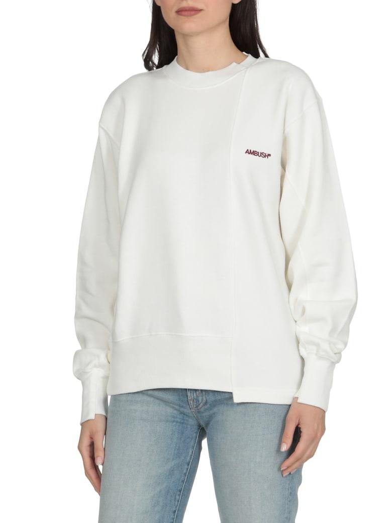 AMBUSH Logo Sweatshirt - OFF WHITE BURGUNDY