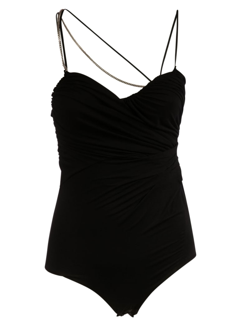N.21 Chain Strap Detail Bodysuit - Black