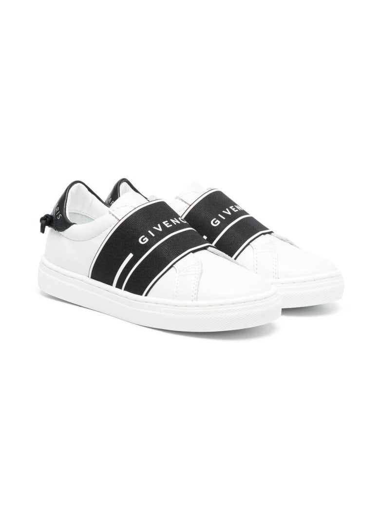 Givenchy Urban Street Sneakers With Black Band - White
