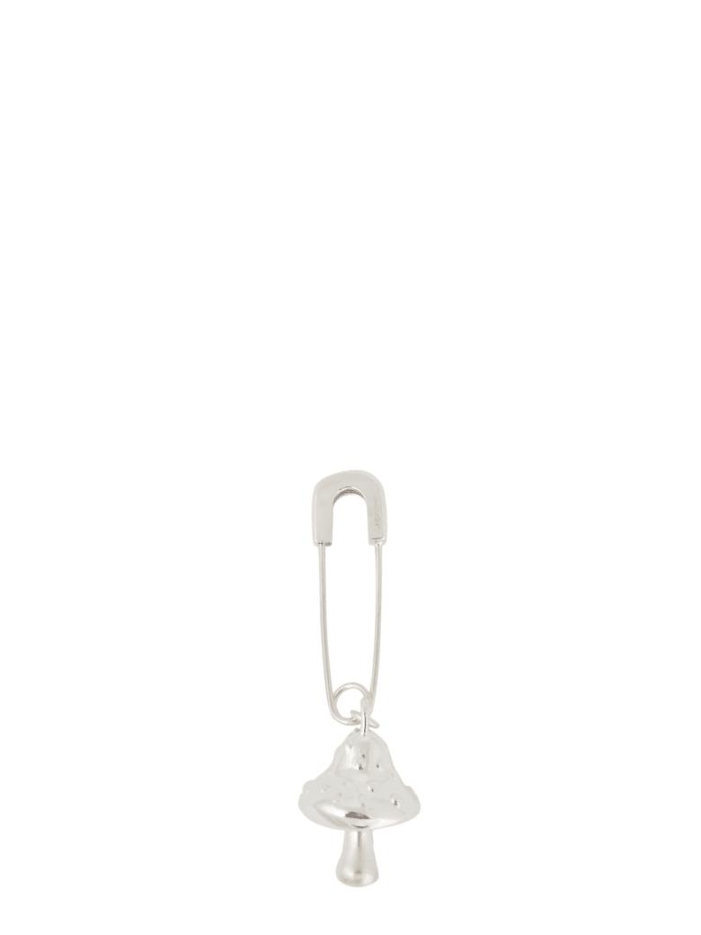 AMBUSH Earrings With Mushroom Pendant - Silver