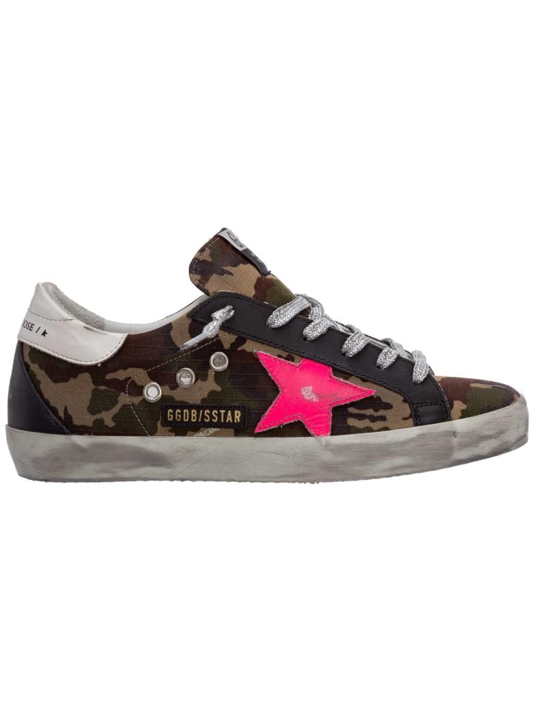Golden Goose Superstar Sneakers - Green camouflage / Fux