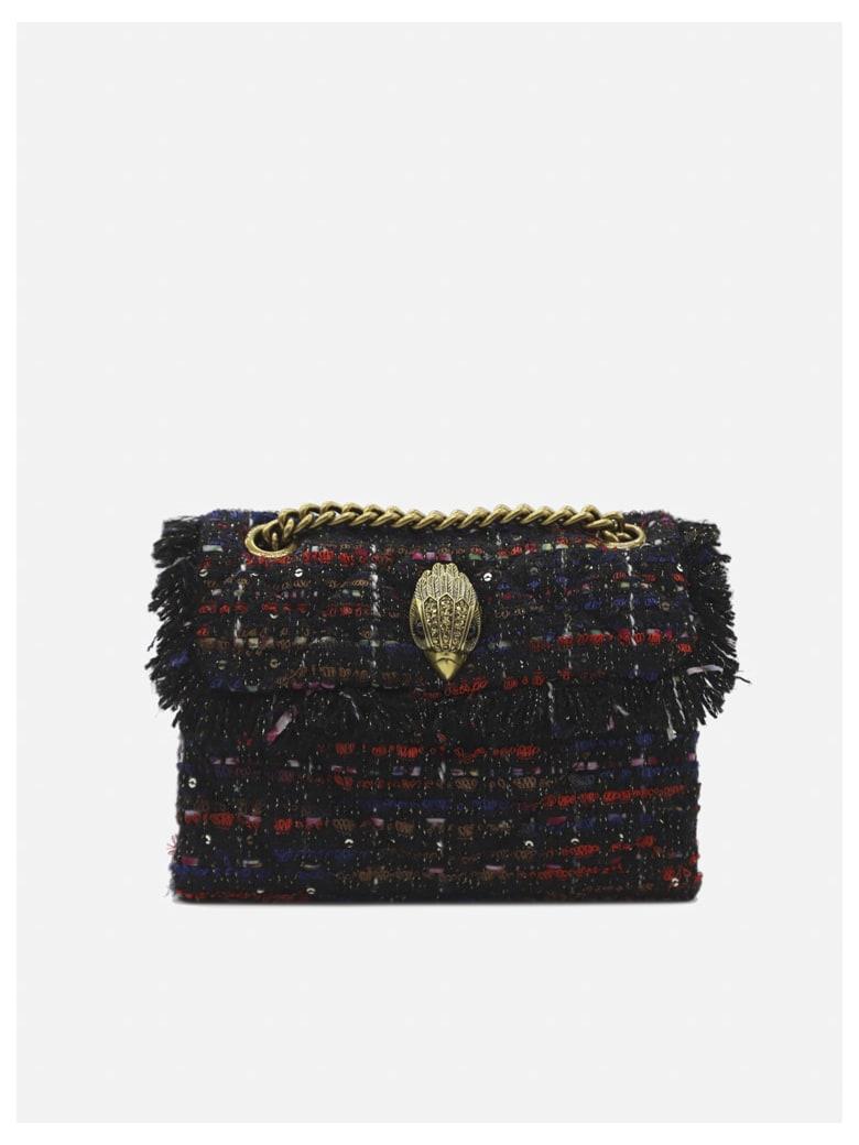 Kurt Geiger Kensington Min Tweed Bag - Black, red