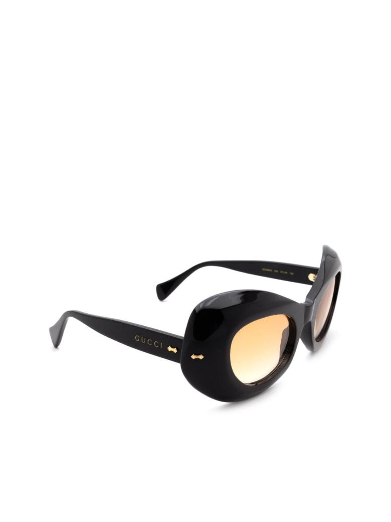 Gucci GG0990S Sunglasses - Black Black Orange
