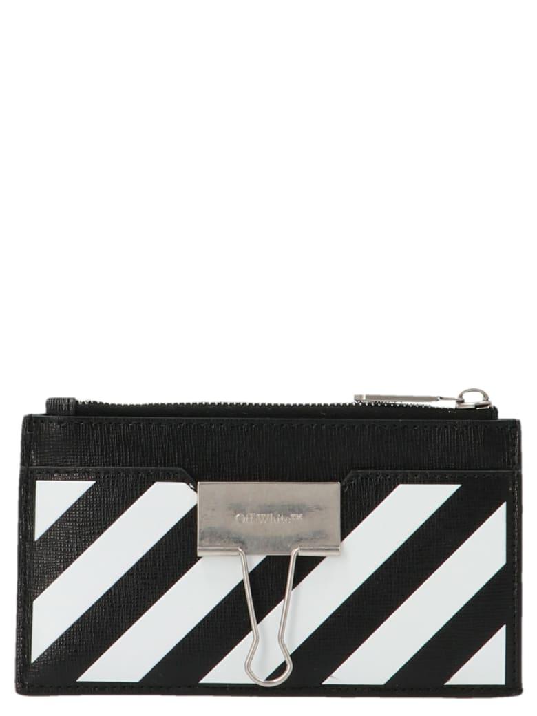 Off-White 'binder' Wallet - Black&White