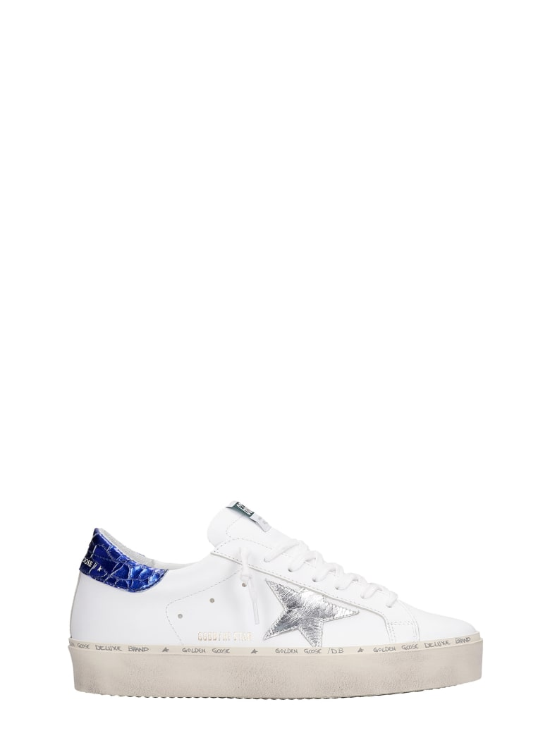 Golden Goose Hi Star Sneakers In White Leather - White/silver
