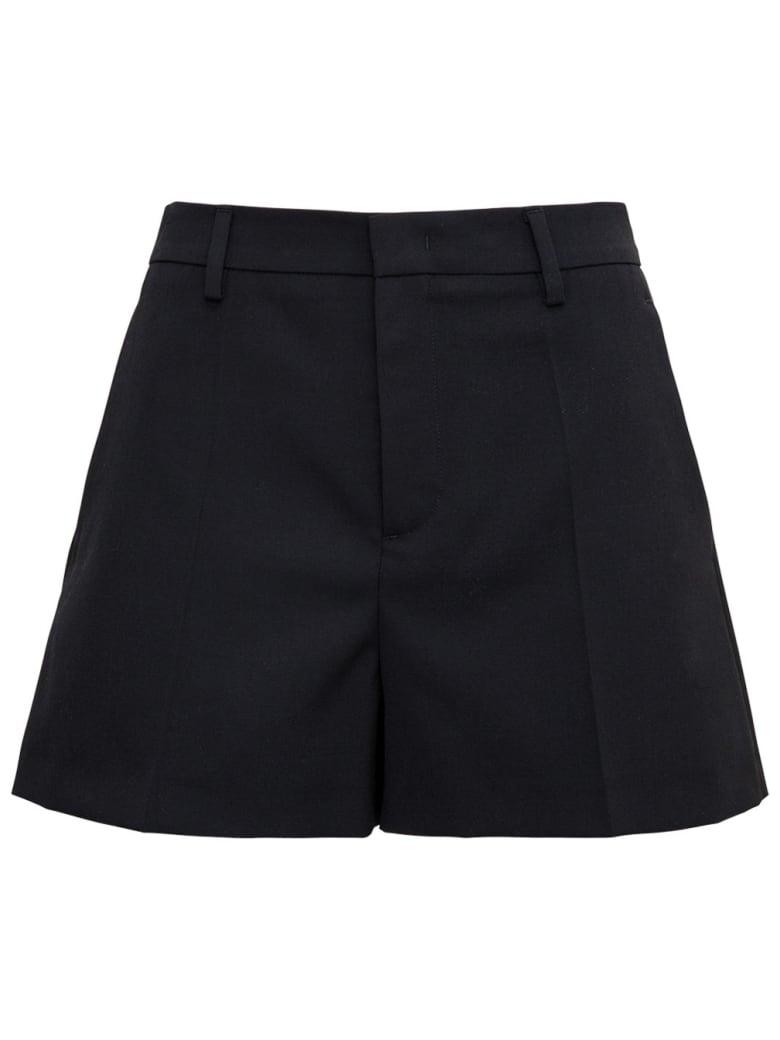 RED Valentino Black Wool Blend Shorts - Black