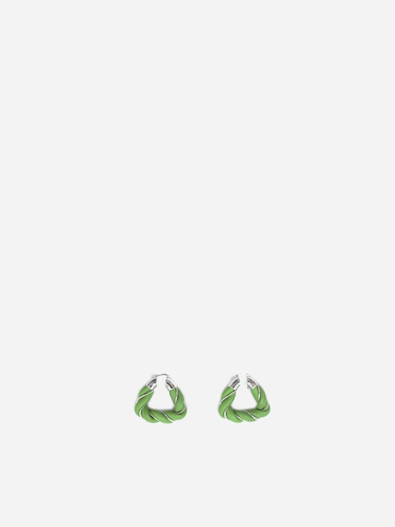 Bottega Veneta Silver And Tassel Earrings - Parakeet