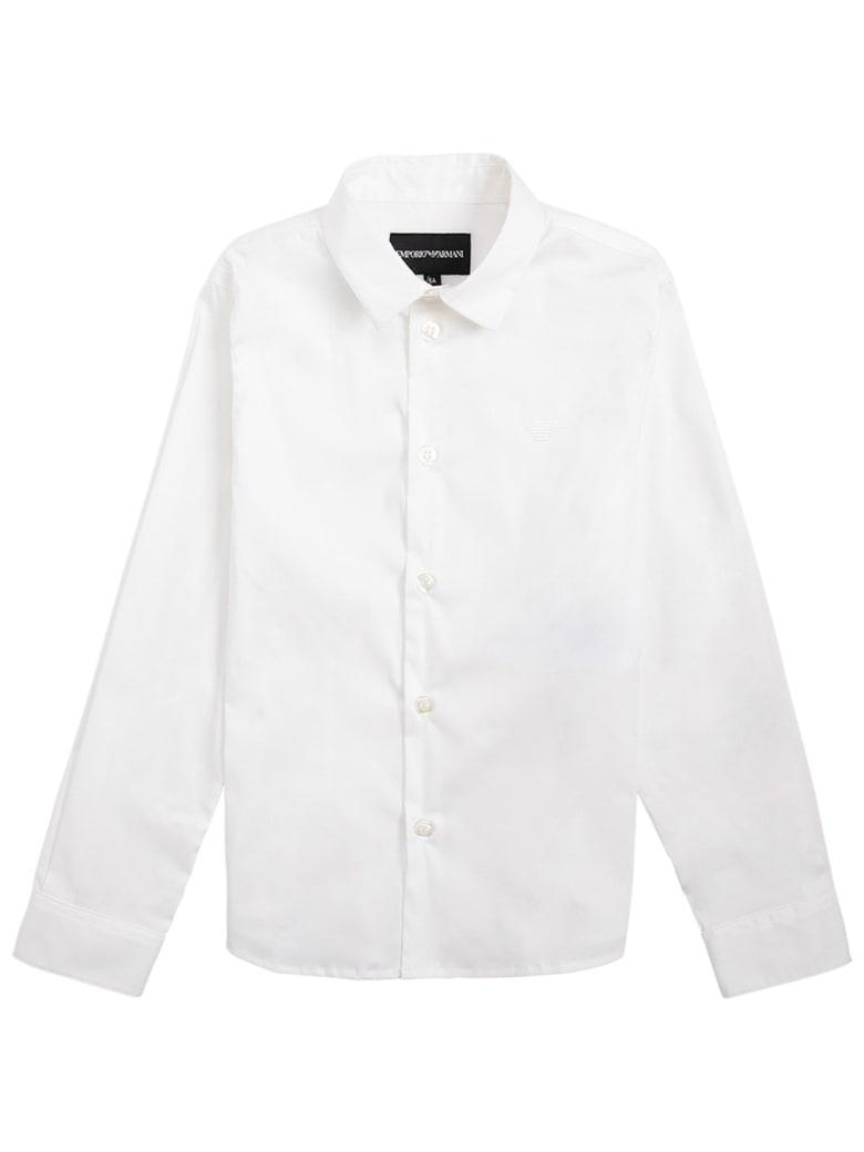 Emporio Armani White Cotton Poplin Shirt - White
