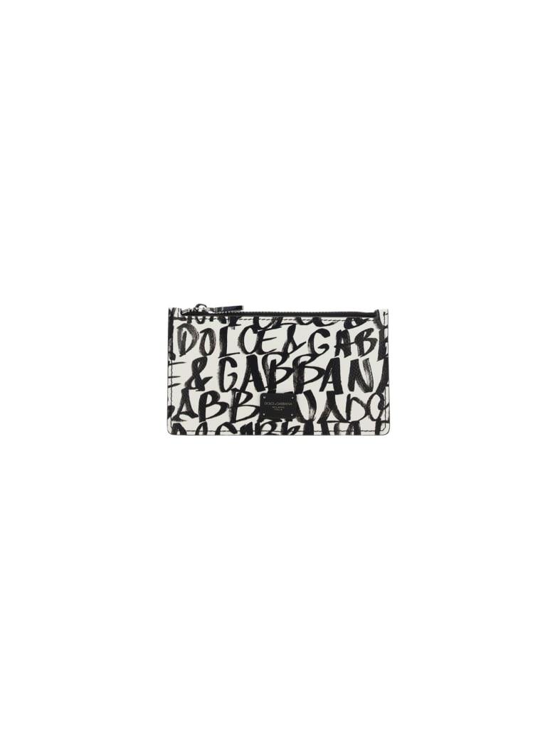 Dolce & Gabbana Card Holder - Dauphi logo1 nero f.bco nat