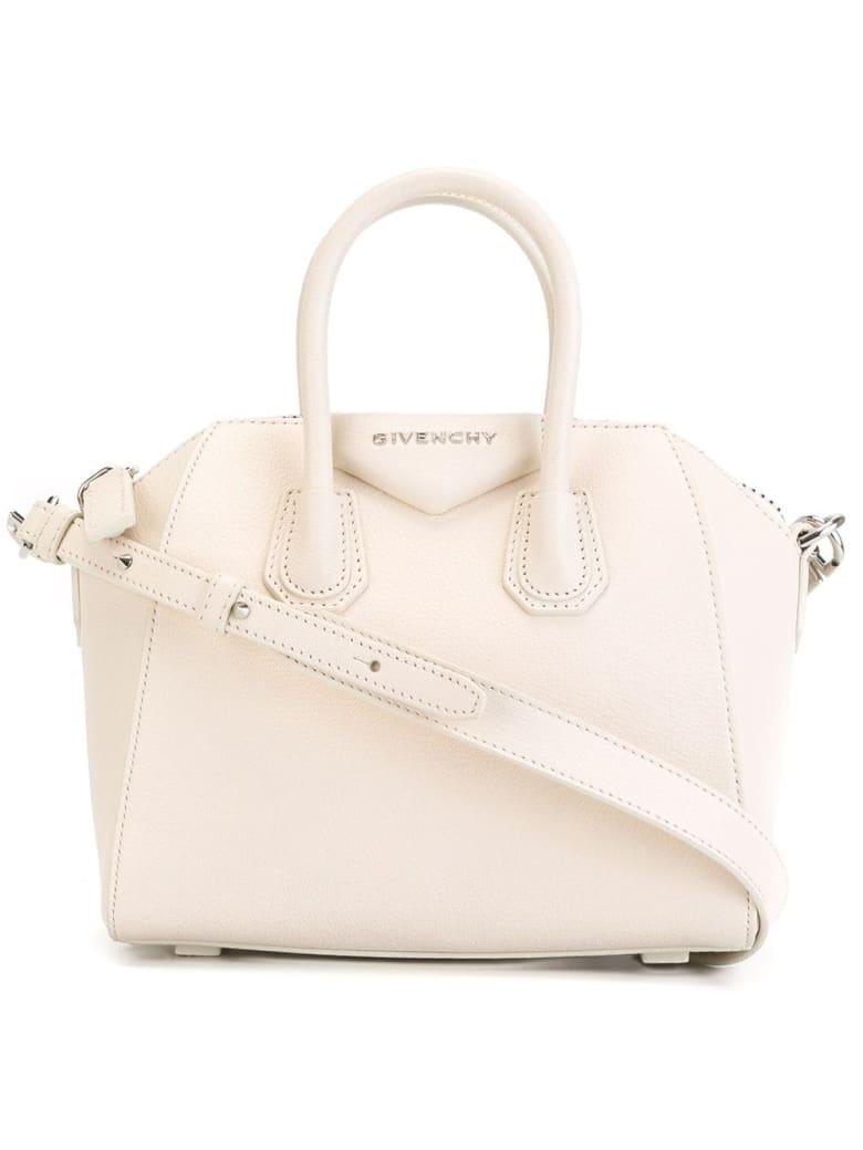 Givenchy Mini Antigona Bag In Light Pink Grain Leather