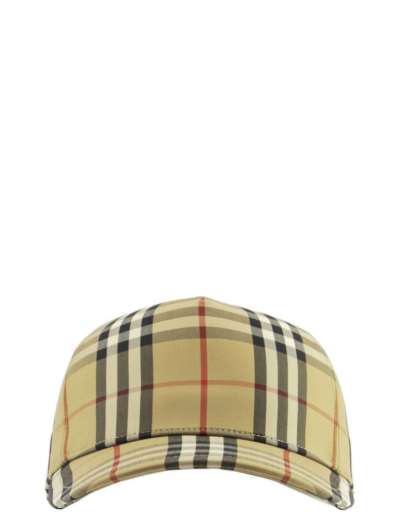 Burberry Trucker Cap - Baseball Cap With Vintage Check Pattern And Logo Patch - Archive Beige
