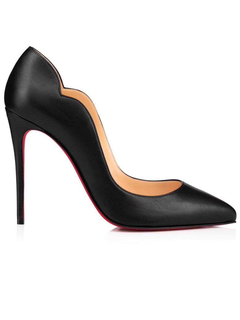 Christian Louboutin Black Leather Hot Chick Pumps - BLACK