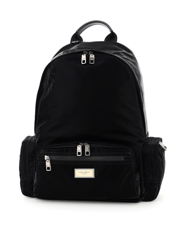 Dolce & Gabbana Samboil Nylon Backpack - BLACK