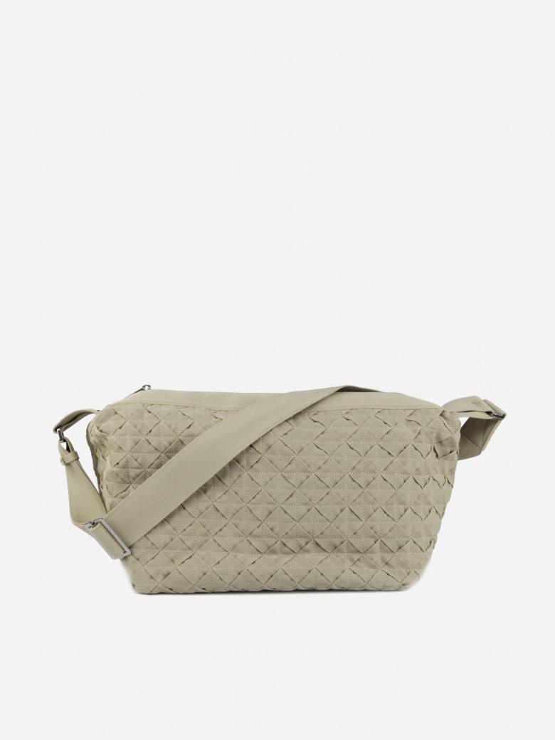 Bottega Veneta Webbing Texture Big Tote Bag - Plaster-silver