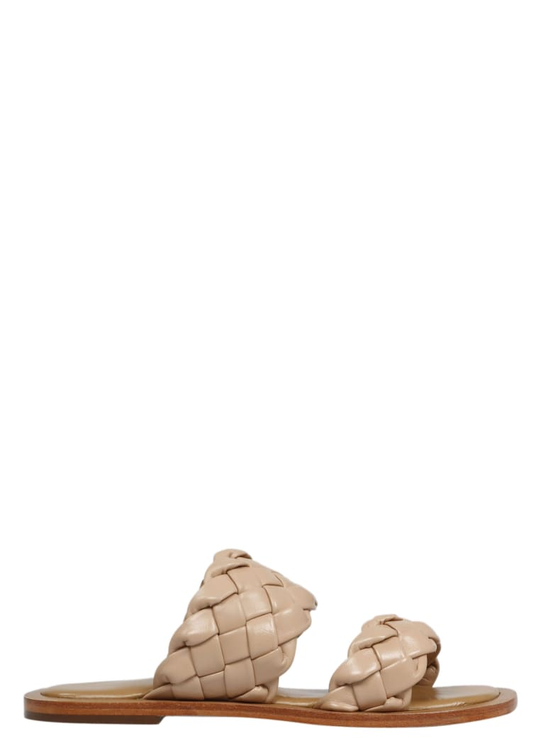 Coral Blue Double Band Sandals - Brown