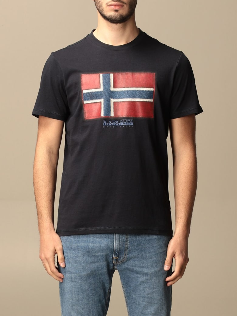 Napapijri T-shirt Sirol Napapijri T-shirt In Cotton With Print - Blue