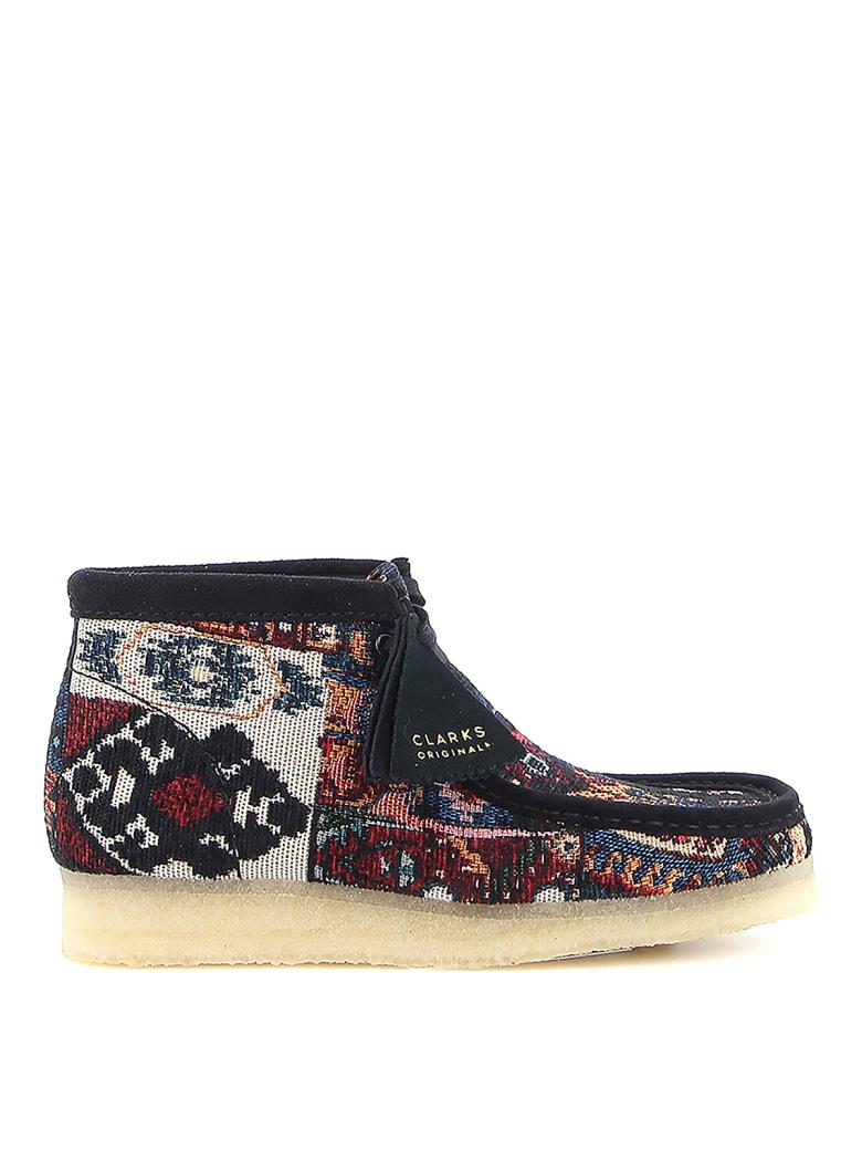 Clarks Wallabee Boot - Black Combi
