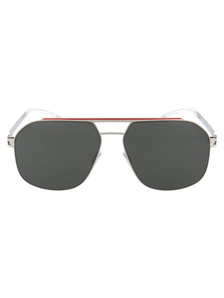 Mykita Selleck Sunglasses - 317 SILVER/CORALRED