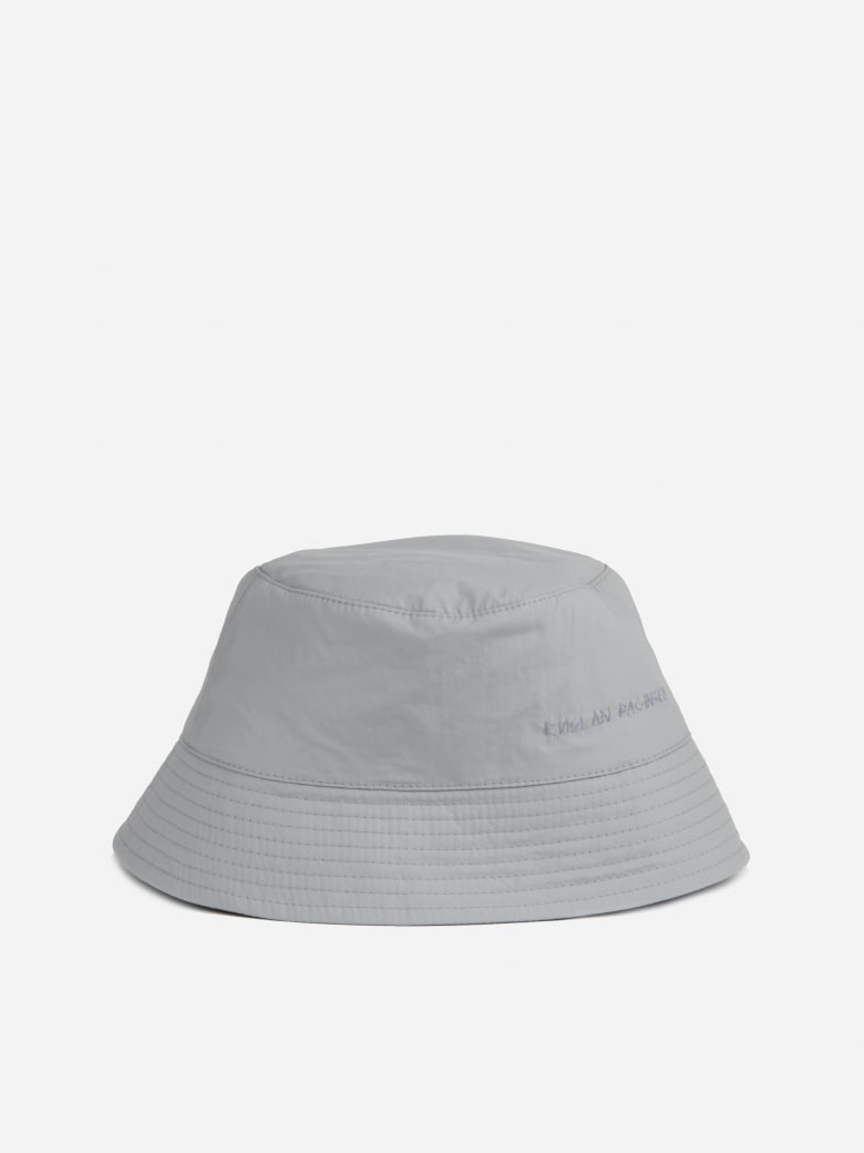 Ruslan Baginskiy Lampshade Bucket Hat With Embroidered Logo - Grey