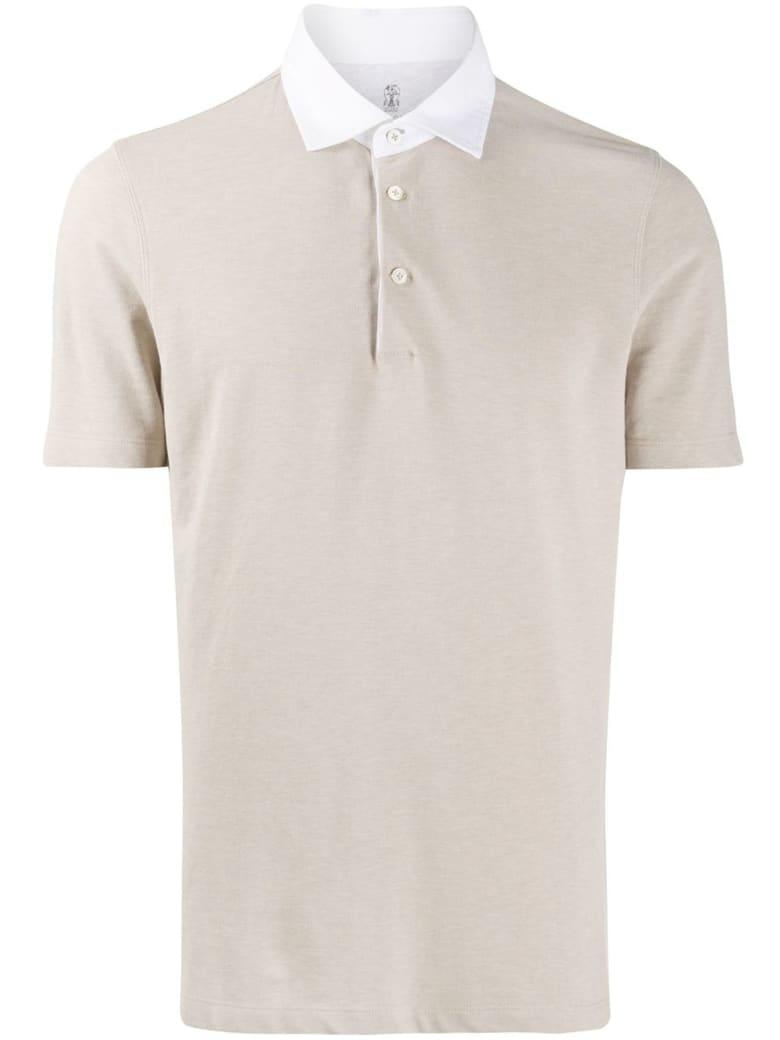 Brunello Cucinelli Beige Cotton Polo Shirt - NEUTRALS