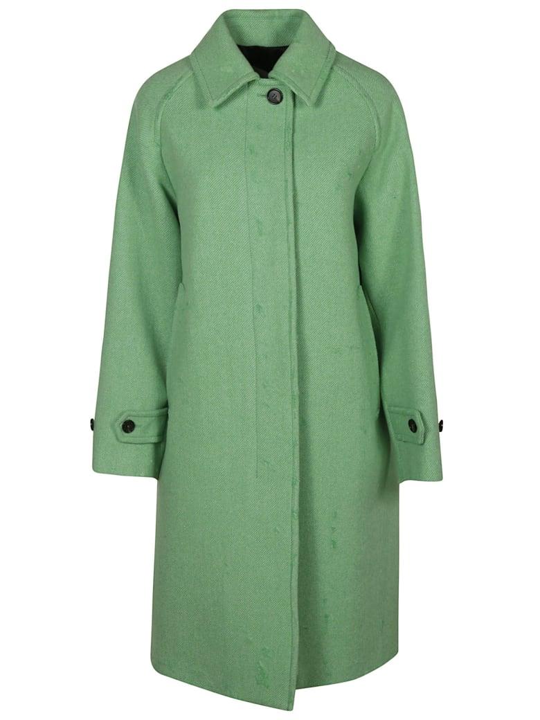 MSGM Rear Slit Plain Coat - Green
