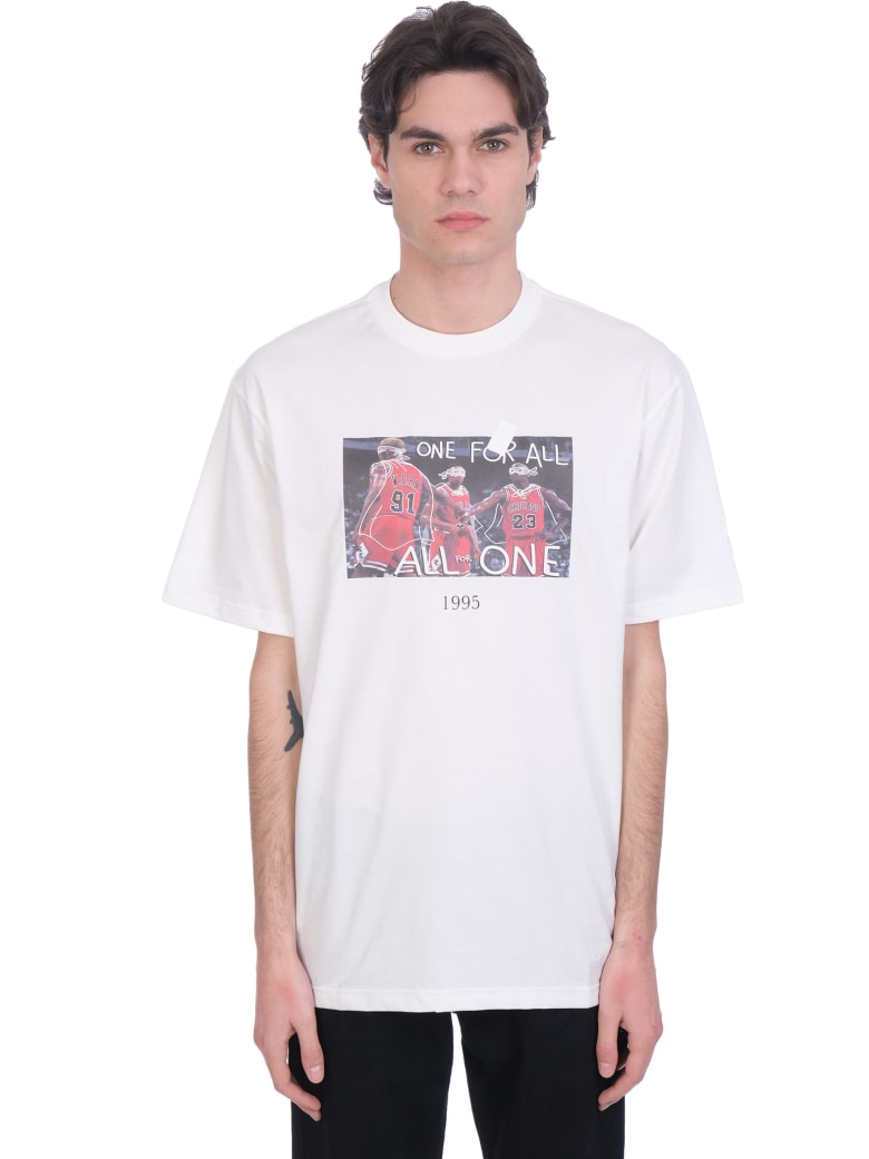 Throwback T-shirt In White Cotton - white