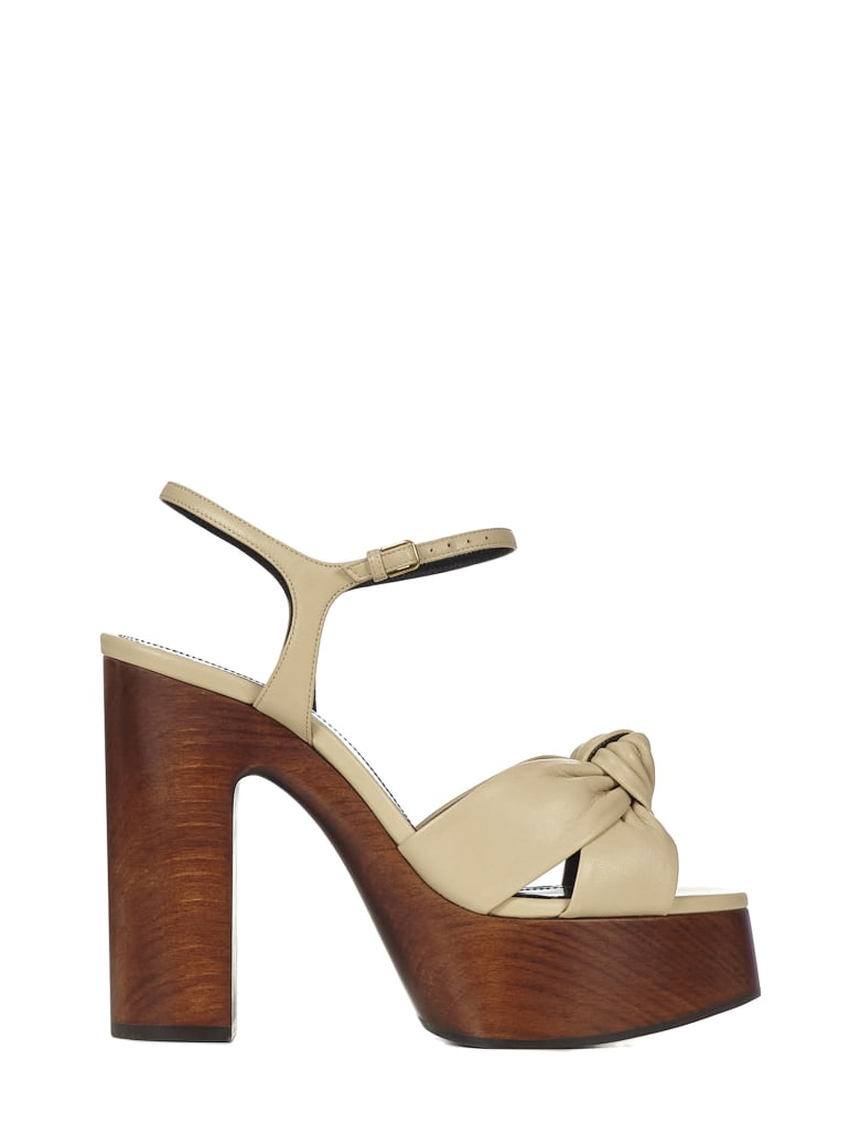 Saint Laurent Bianca Sandals - Beige