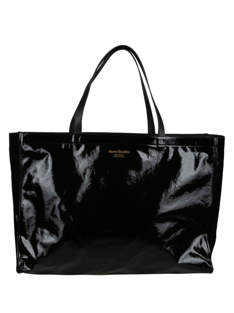 Acne Studios Open Top Logo Shopper Bag - Black