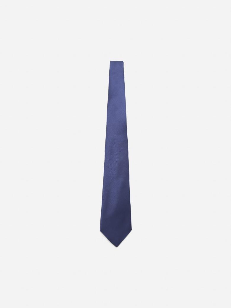 Lanvin Monochrome Tie Made Of Silk - Blue