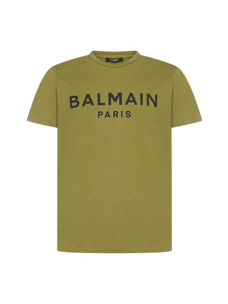 Balmain T-Shirt - Kaki fonce noir