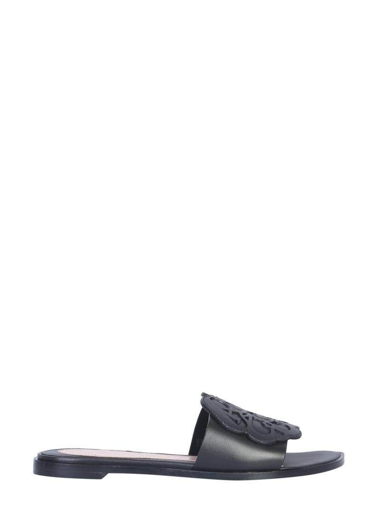 Alexander McQueen Leather Sandals - NERO