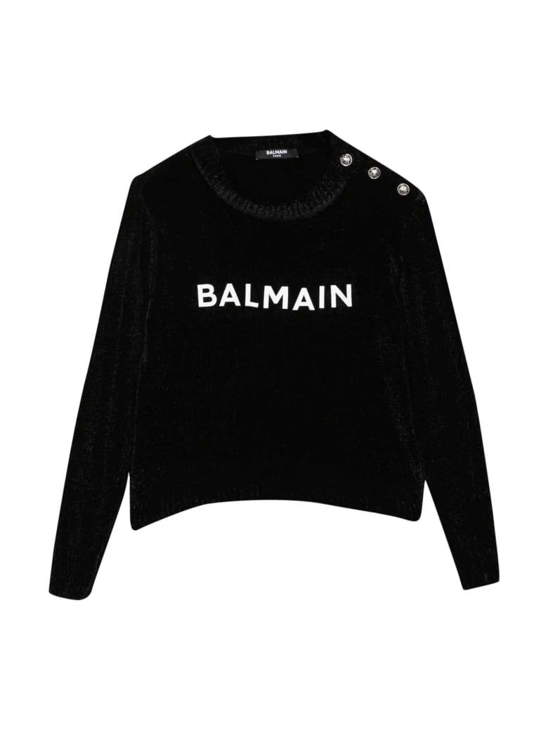 Balmain Black Teen Sweater - Nero/bianco