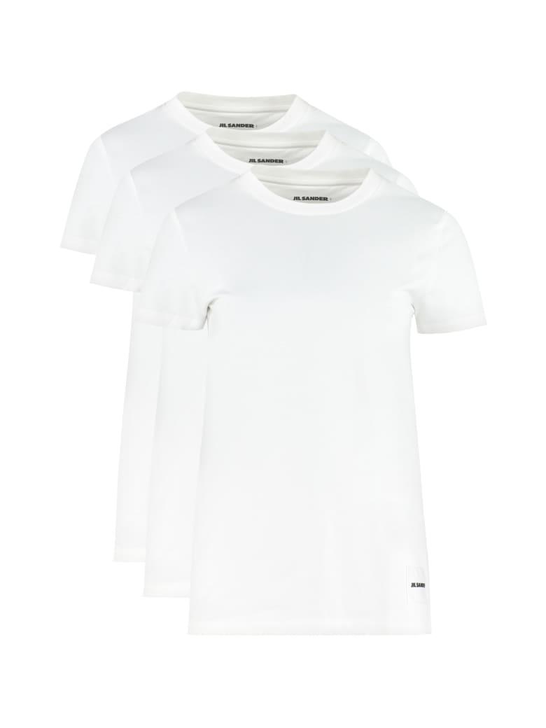 Jil Sander Set Of Three Cotton T-shirt - White