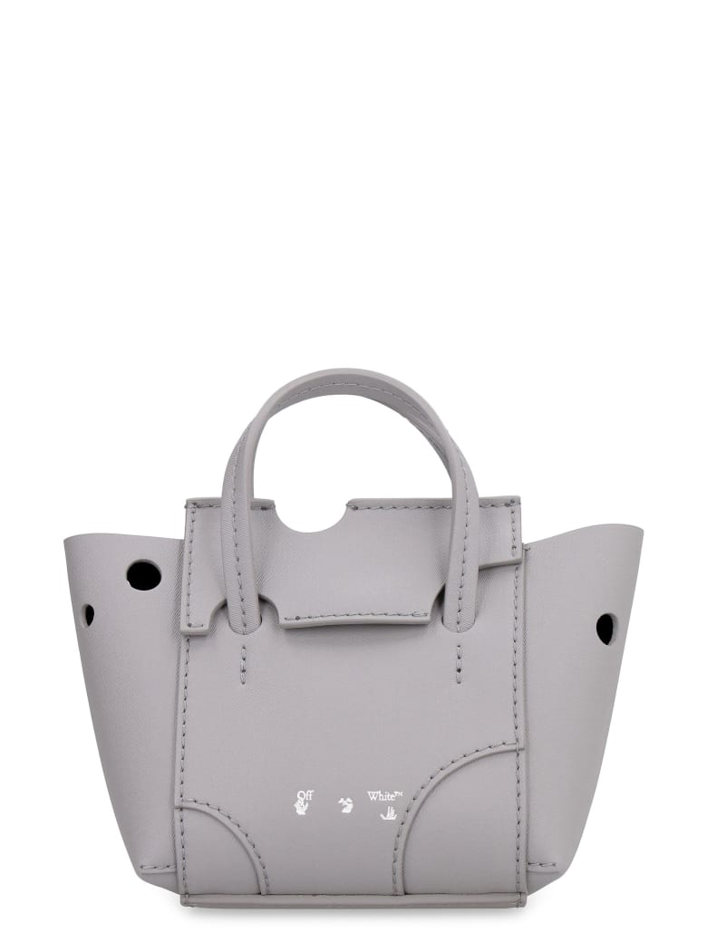 Off-White Burrow Perforated Leather Bag - grey
