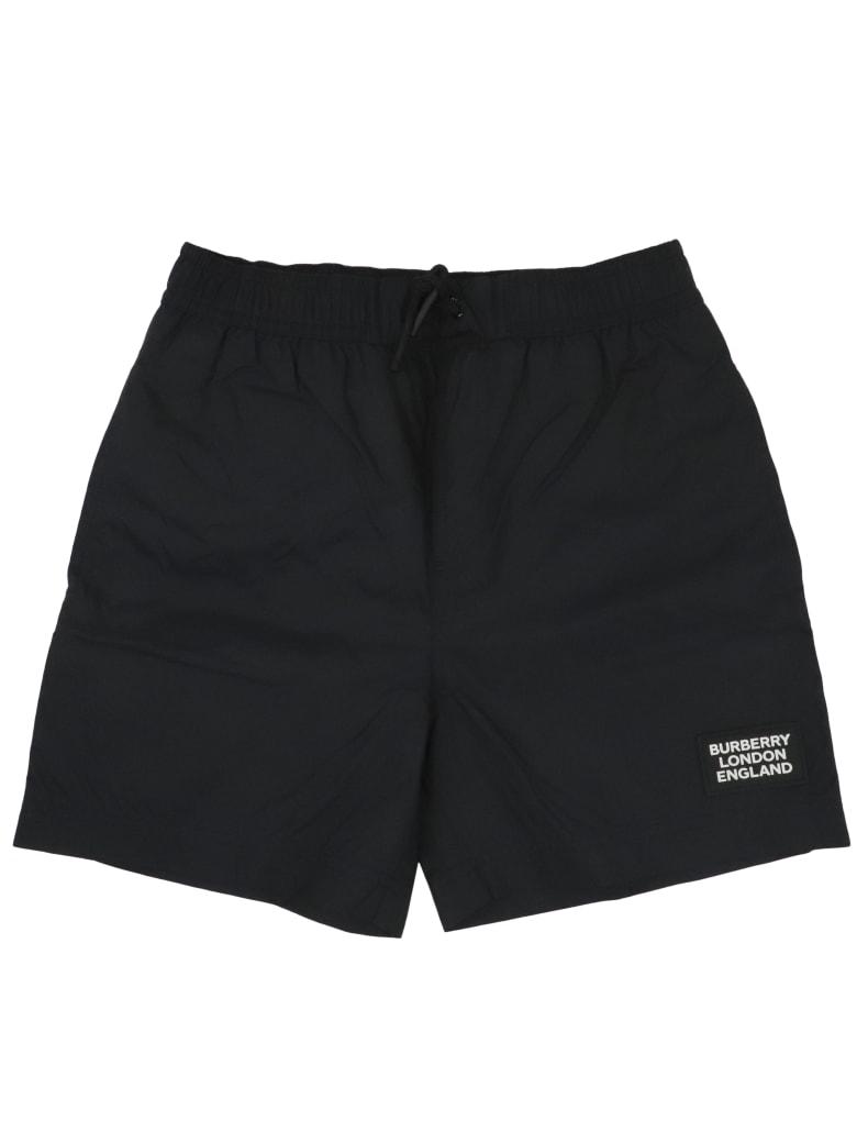 Burberry Kameron Plain Swim Shorts - BLACK