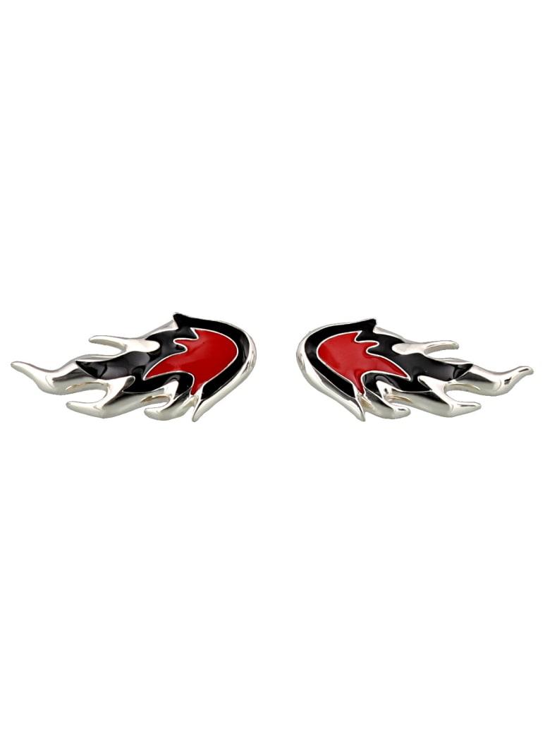 AMBUSH Flame Earrings - Silver