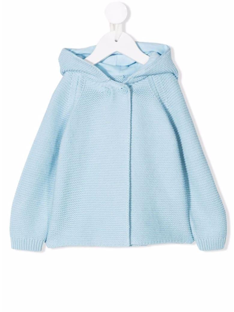 Stella McCartney Kids Light Blue Knitted Hooded Cardigan With Ears Detail - Light blue