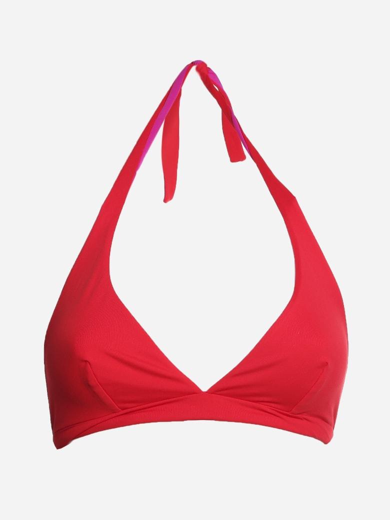 Fisico - Cristina Ferrari Reversible Triangle Bikini - Rosso+fuxia