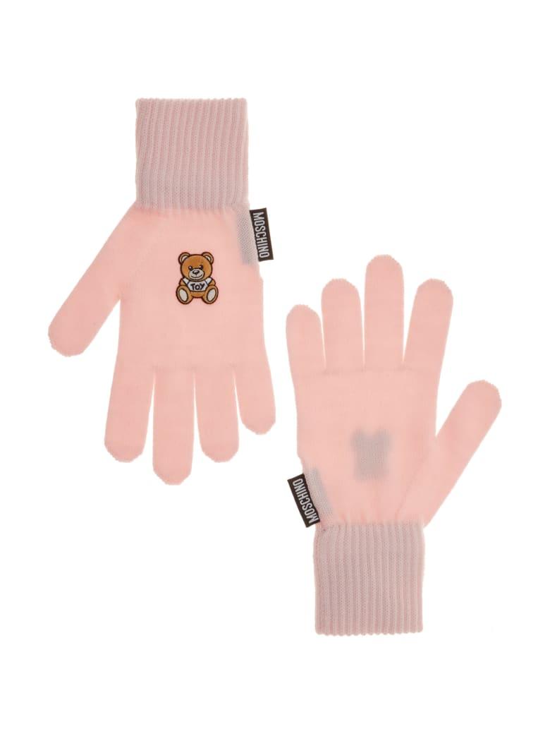 Moschino Teddy Gloves - Rosa