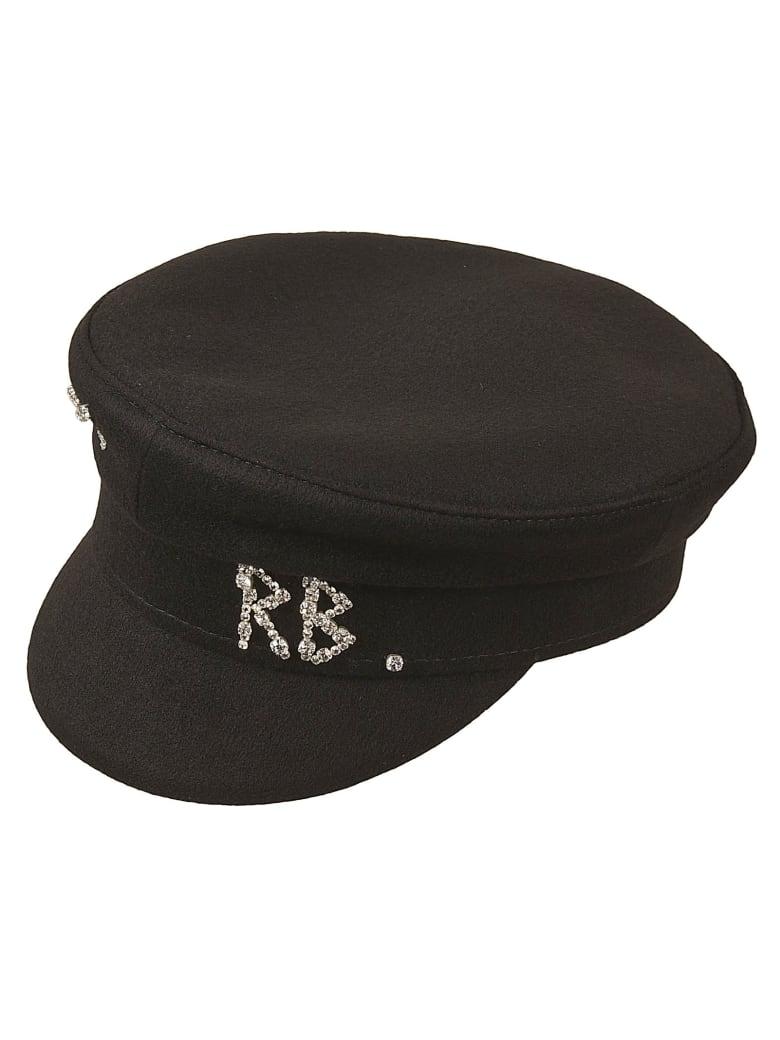 Ruslan Baginskiy Crystal Embellished Logo Cap - Black