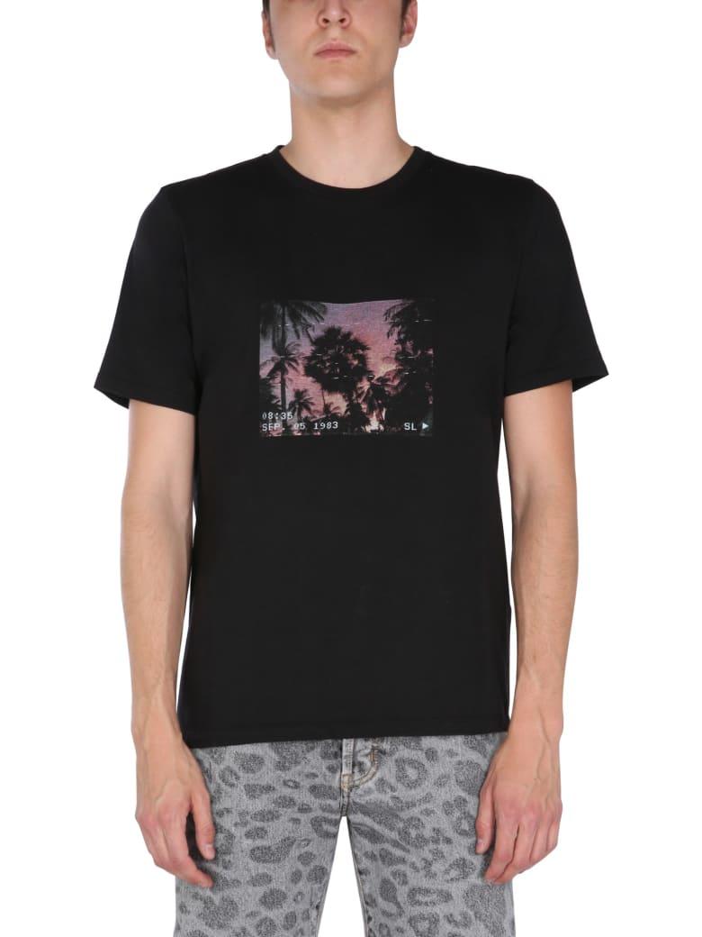 Saint Laurent Printed T-shirt - Nero