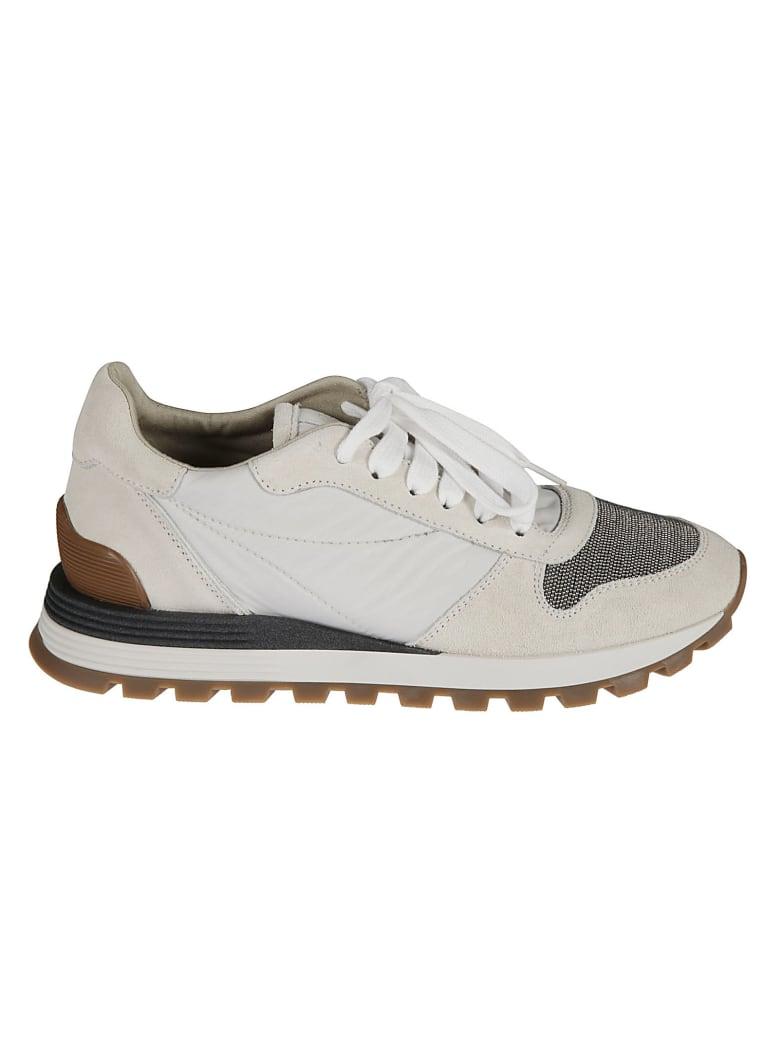 Brunello Cucinelli Bead Applique Sneakers - Bianco