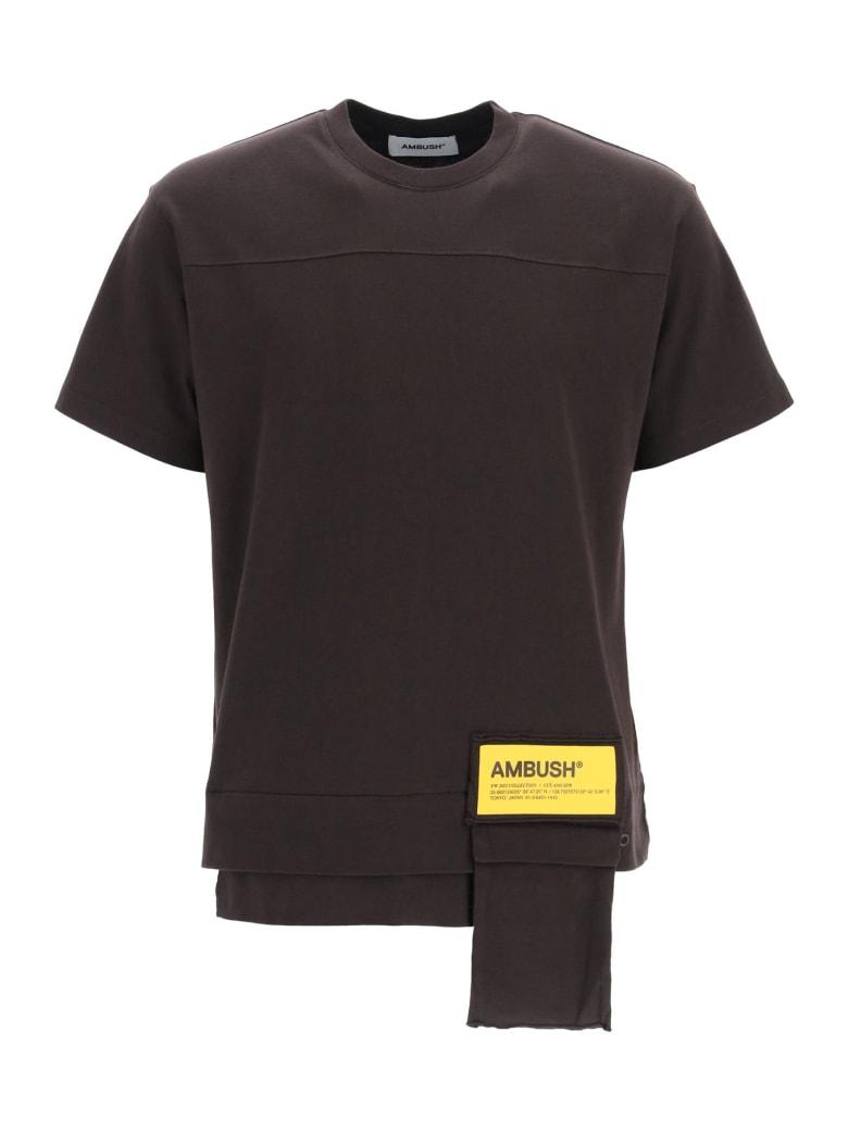 AMBUSH T-shirt Waist Pocket - CHOCOLATE