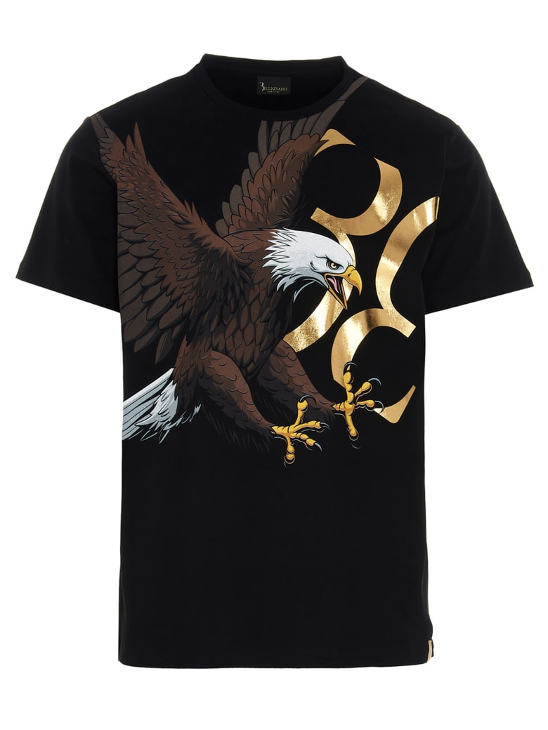 Billionaire 'falcon' T-shirt - Black