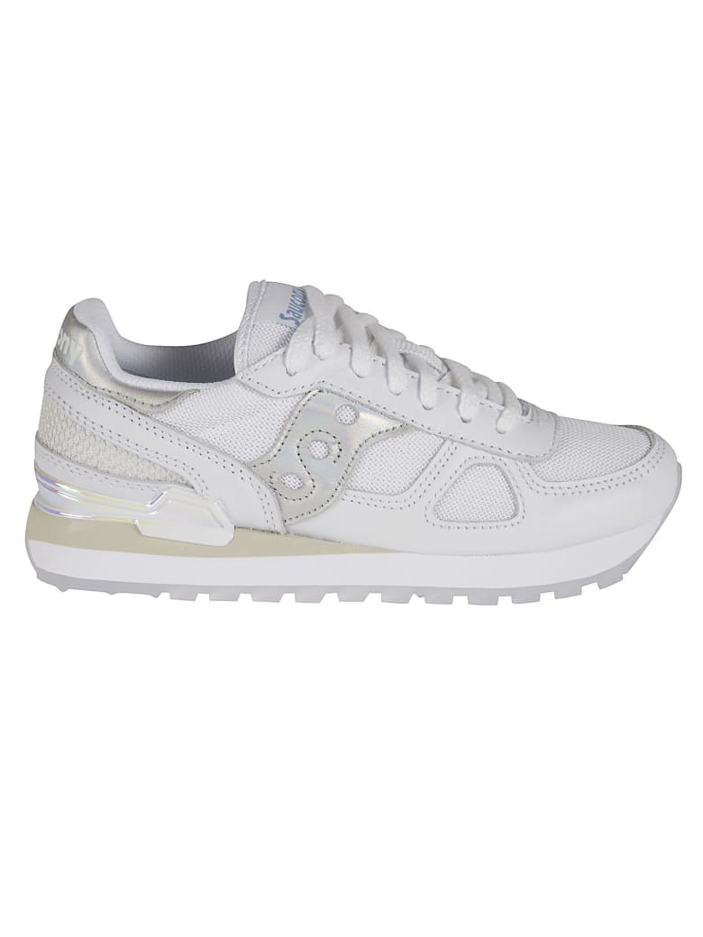 Saucony Shadow Original Sneakers - White/Iridescent